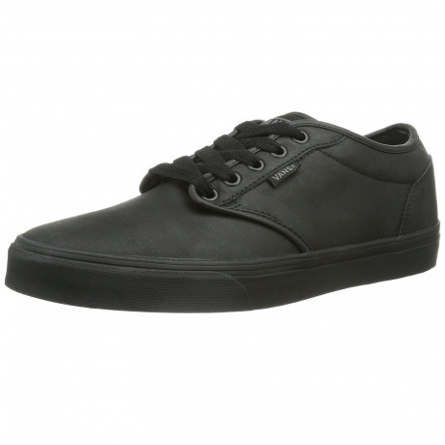 Vans Men's Atwood Leather Shoes Black | Jean Scene