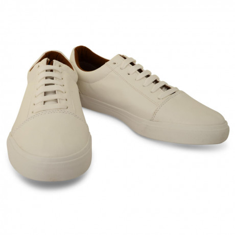 Crosshatch Men's Low Casual Shoes Roan White | Jean Scene