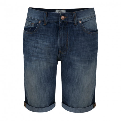 Threadbare Men's Slim Fit Denim Jean Shorts Dark Wash Blue | Jean Scene