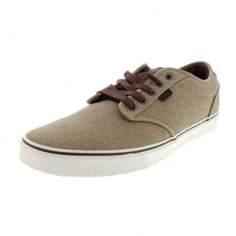 Vans Mens Atwood Deluxe Twill Shoes Trainers Khaki | Jean Scene