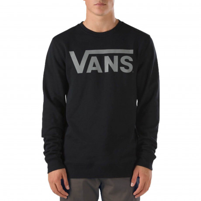 VANS Men's Classic Logo Pullover Hooded Sweatshirt Black Forest   Jean Scene
