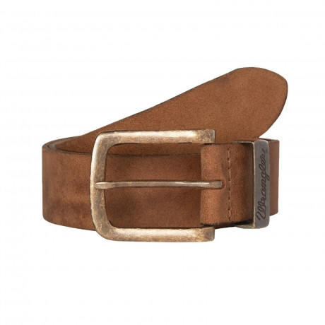 Wrangler Basic Logo Leather Belt Cognac | Jean Scene