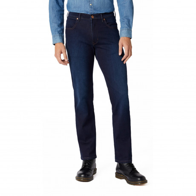 Wrangler Arizona Stretch Soft Luxe Denim Jeans Blue Stroke | Jean Scene