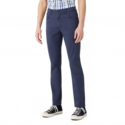 Wrangler Texas Slim W7 Soft Fabric Jeans Navy | Jean Scene