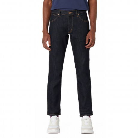 Wrangler Greensboro Stretch Denim Jeans Dark Rinse | Jean Scene