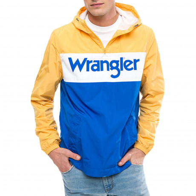 Wrangler Overhead Anorak Jacket Amber Yellow   Jean Scene