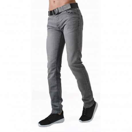 Crosshatch Straight Fit Wayne Jeans Faded Grey | Jean Scene