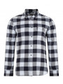 French Connection Pop Flannel Check Long Sleeve Cold Sky Shirt