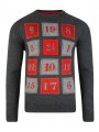 3D Novelty Christmas Jumper Crew Neck Advent Calendar Charcoal