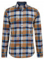 Esprit Slim Fit Long Sleeve Check Shirt Brown
