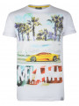 Soul Star Crew Neck Print T-shirt Miami Car White