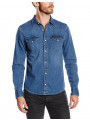 Lee Western Denim Shirt Slim Fit Blue Stance