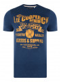 Lee Cooper Crew Neck Print T-shirt Dark Denim Blue