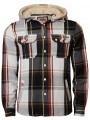 Tokyo Laundry Fur Hood Lumberjack Shirt Brown Orange