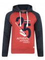 Smith & Jones Novar Hoodie Blood Red Marl