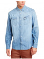 Wrangler Denim Shirt Regular Fit Light Indigo Blue