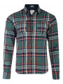 Lee Cooper Long Sleeve Check Shirt Green