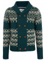 Brave Soul Heavy Knit Chunky Button Front Cardigan Green