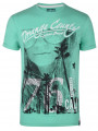 Soul Star Crew Neck Print T-shirt Laguna Beach Green