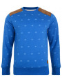 Smith & Jones Poker Dott Crew Neck Sweatshirt Le Mans Blue