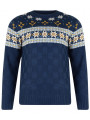 Rock & Revival Crew Neck Fair Isle Knitted Jumper Navy Blue