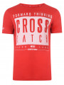 Crosshatch Crew Neck Reverse One Print T-shirt Red