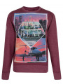 Conspiracy Hollywood LA Heat Los Angeles Sweatshirt Wine Marl