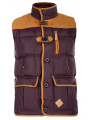Soul Star Men's Padded Body Warmer Gilet Burgundy