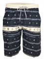 Soul Star Casual Printed Shorts Navy Blue