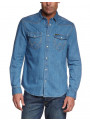 Wrangler Western Denim Shirt Regular Fit Light Indigo