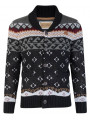 Rock & Revival Lumox Fair Isle Cardigan Black