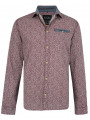 Blend Regular Fit Long Sleeve Pattern Shirt Maroon