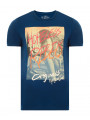 Jack & Jones Originals Crew Neck S3 Print T-shirt Poseiden