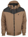 Kangol Men's Silvertone Hooded Padded Jacket Otter Beige