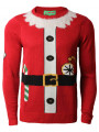 3D Novelty Christmas Jumper Crew Neck Santas Coat Red