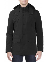 Ben Sherman Four Pocket Luxe Mac Jacket Black | Jean Scene