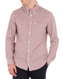 Ben Sherman Check Men's Gingham Check Shirt Off White | Jean Scene