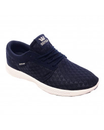 SUPRA Men's Hammer Run Canvas Shoes Trainers Navy/Lt Grey-White | Jean Scene