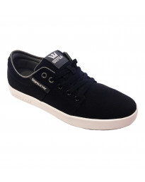 SUPRA Men's Stacks II Canvas Shoes Trainers Black Stitch-White | Jean Scene