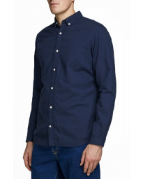 Jack & Jones Oxford Long Sleeve Summer Shirt Navy Blazer | Jean Scene