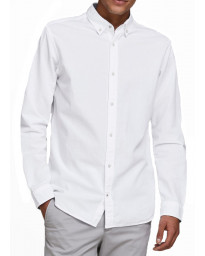 Jack & Jones Oxford Long Sleeve Summer Shirt White | Jean Scene