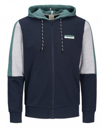 Jack & Jones Core Zip Up Regular Hoodie Long Sleeve Sky Captain | Jean Scene