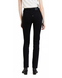 Levis 724 Women's High Rise Straight Stretch Jeans Black Sheep | Jean Scene