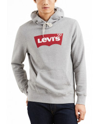 Levis Graphic PO House Mark Men's Hoodie Midtone Heather Grey | Jean Scene