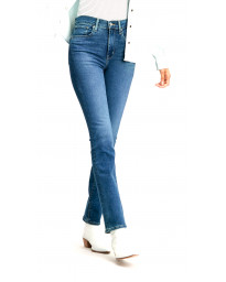 Levis 724 Women's High Rise Straight Stretch Jeans Bogota Paris Storm | Jean Scene