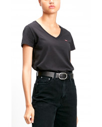 Levis Womens Perfect T-Shirt Short Sleeve Caviar | Jean Scene