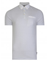French Connection Summer Dot Ditsy Polo Pique T-Shirt White | Jean Scene