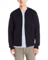 French Connection Men's 57GBA Zip Up Sweat Marine Blue | Jean Scene