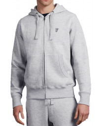 French Connection Zip Up Men's 57IAY Hoodie Grey Melange | Jean Scene