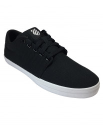 K-Swiss Men's Backspin Canvas Shoes Trainers Black White | Jean Scene